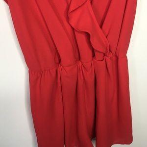 Forever 21 Pants - SALE! 💗 Forever 21 red romper!